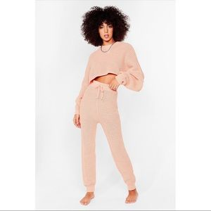 Nasty Gal | Knit Sweater and Fitted Sweatpants Set